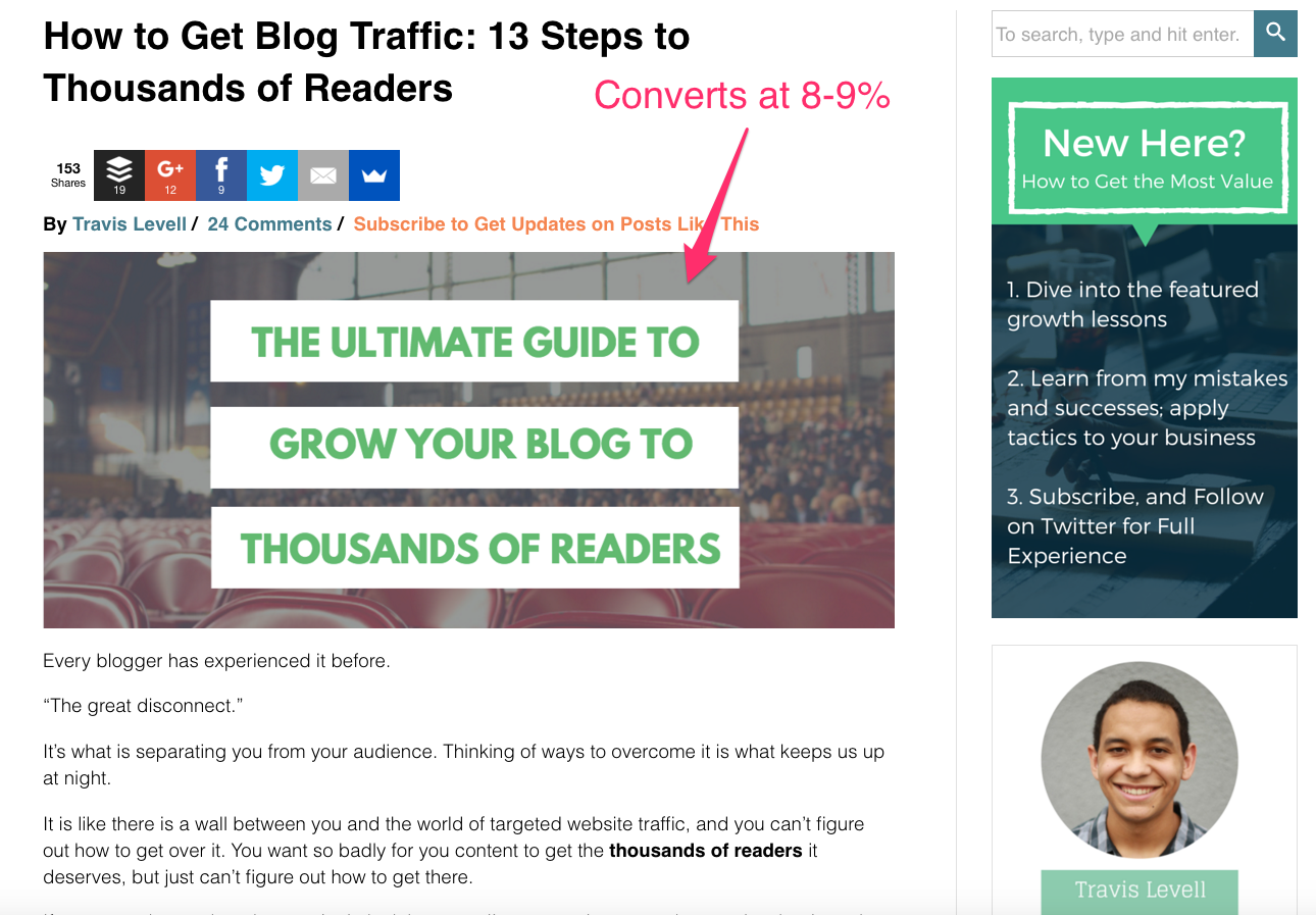 blog post conversion example