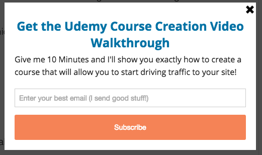 Udemy course content upgrade example