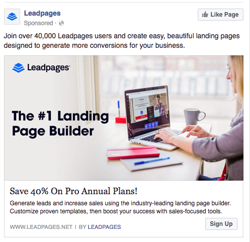 Facebook targeting ad 2